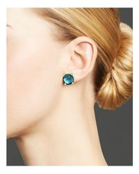 Ippolita - Rock Candy® Sterling Silver Mini Stud Earrings With Blue Topaz - Lyst