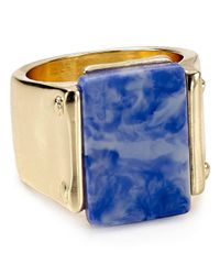 Aqua | Blue Clay Rectangle Ring - 100% Exclusive | Lyst