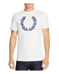Fred Perry | White Laurel Wreath Tee for Men | Lyst