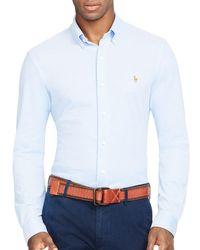 Polo Ralph Lauren - Blue Knit Oxford Regular Fit Button-down Shirt for Men - Lyst