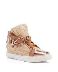 Ivy Kirzhner   Brown Lunar Hidden Wedge Sneakers   Lyst