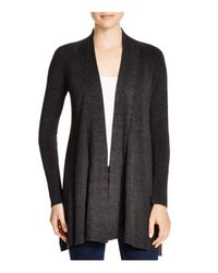 Eileen Fisher | Gray Heathered Knit Cardigan | Lyst