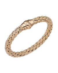 Chimento - Metallic 18k Rose Gold Stretch Classic Collection Pyramid Shell Bracelet With Diamonds - Lyst