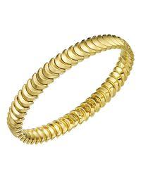 Chimento   Metallic 18k Yellow Gold Armillas Collection Ridge Curve Bracelet   Lyst