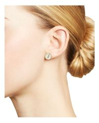 Ippolita - White 18k Gold Rock Candy® Medium Round Stud Earrings In Mother-of-pearl Doublet - Lyst