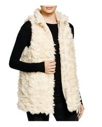 Aqua Natural Reversible Faux Fur Vest