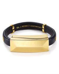 Rebecca Minkoff | Black Lightning Cable Bracelet | Lyst
