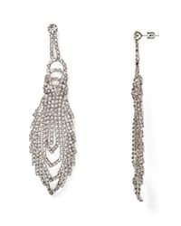 ABS By Allen Schwartz | Metallic Drama Chandelier Earrings - 100% Bloomingdale's Exclusive | Lyst