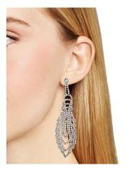 ABS By Allen Schwartz | Metallic Drama Chandelier Earrings - 100% Bloomingdale's Exclusive | Lyst