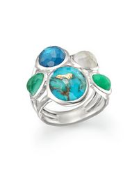 Ippolita | Multicolor Sterling Silver Wonderland 5 Stone Ring In Chrysoprase Multi | Lyst
