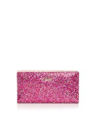 kate spade new york Red Glitter Bug Stacy Zip Wallet