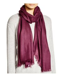 Fraas - Purple Cashmere Solid Wrap Scarf - Lyst