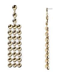 Aqua - Metallic Caroline Chandelier Earrings - Lyst