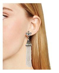 BaubleBar - Gray Aurora Tassel Drop Earrings - Lyst
