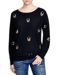 Aqua - Black Foil Skull Sweater - Lyst