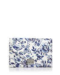 Loeffler Randall - Blue Porcelain Print Lock Clutch - Lyst