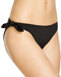 Shoshanna | Soft Black Bikini Hipster Bottom | Lyst