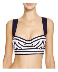 kate spade new york   Blue Nahant Shore Underwire Bikini Top   Lyst