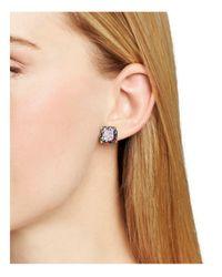Kate Spade - Multicolor Small Square Glitter Stud Earrings - Lyst