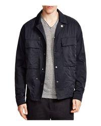Vince | Blue Nylon Twill Shirt Jacket for Men | Lyst