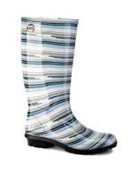 UGG - Blue Shaye Serape Rain Boots - Lyst