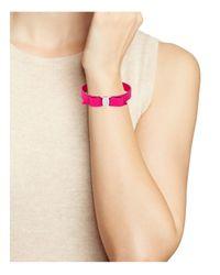 Ferragamo - Purple Leather Vara Single Wrap Bracelet - Lyst