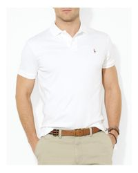 Polo Ralph Lauren - White Pima Soft-Touch Polo Shirt for Men - Lyst