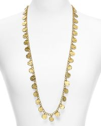 "Kenneth Jay Lane - Metallic Disc Necklace, 34"" - Lyst"