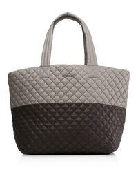 MZ Wallace | Brown Oxford Metro Large Color Block Tote | Lyst