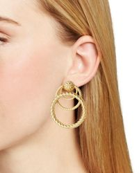 For Love & Lemons - Metallic Triple-loop Drop Earrings - Lyst