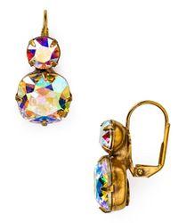 Sorrelli Multicolor Crystal Drop Earrings