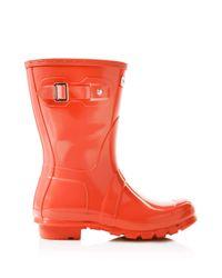 HUNTER | Purple Original Short Glossy Rain Boots | Lyst