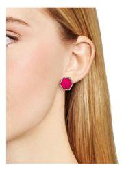 ABS By Allen Schwartz   Pink Octagon Stud Earrings   Lyst