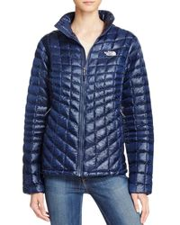 The North Face - Blue Jacket - Thermoball - Lyst