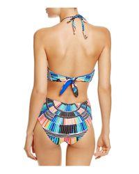 Mara Hoffman - Blue Printed Cutout One Piece Swimsuit - 100% Bloomingdale's Exclusive - Lyst