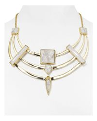 "Alexis Bittar - Metallic Miss Havisham Swarovski Crystal Bib Necklace, 18"" - Lyst"