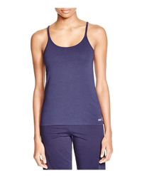 Naked | Blue Stretch Jersey Tank | Lyst
