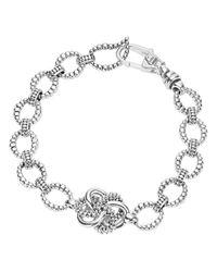 Lagos | Metallic Sterling Silver Love Knot Link Bracelet | Lyst