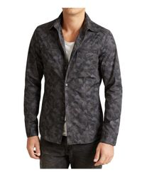John Varvatos - Gray Camouflage Shirt Jacket for Men - Lyst
