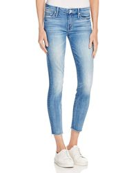 Mother | Blue The Looker Ankle Fray Jeans In Birds Of Paradise | Lyst