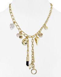 "BaubleBar - Metallic Lockdown Y Necklace, 18"" - Lyst"
