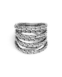 John Hardy - Metallic Sterling Silver Classic Chain 4-band Ring - Lyst