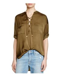 Guess - Green Lace-up Tunic - Lyst