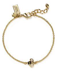 kate spade new york - Metallic Queen Bee Solitaire Bracelet - Lyst