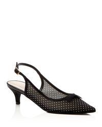 Caparros   Black Eliza Embellished Mid Heel Pumps   Lyst