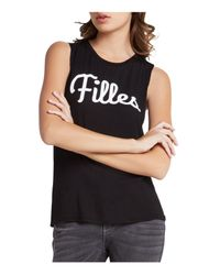 BCBGeneration - Black Printed Muscle Tank - Lyst