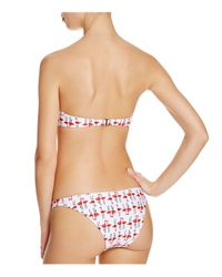 MILLY White Flamingo Underwire Bikini Top