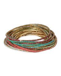 ABS By Allen Schwartz - Pink Stretch Bracelets, Set Of 20 - Lyst