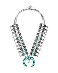 "BaubleBar   Gray Capri Amulet Collar Necklace, 18""l   Lyst"