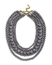 "BaubleBar | Purple Globe Strands Layered Necklace, 18"" | Lyst"